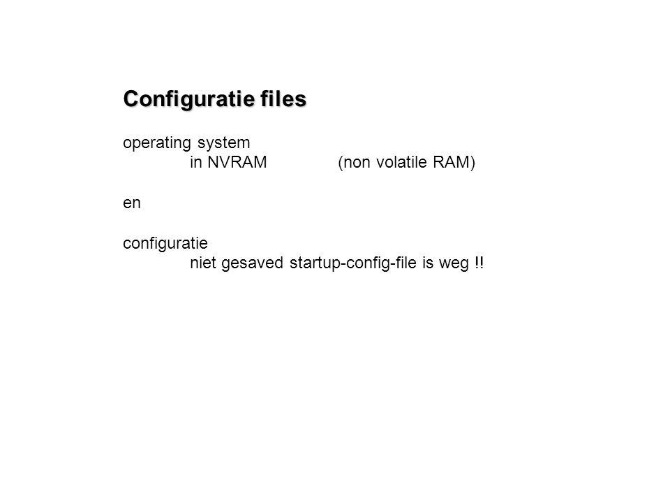 Configuratie files operating system in NVRAM (non volatile RAM) en configuratie niet gesaved startup-config-file is weg !!