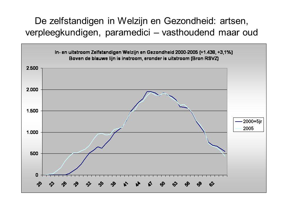 De zelfstandigen in Welzijn en Gezondheid: artsen, verpleegkundigen, paramedici – vasthoudend maar oud