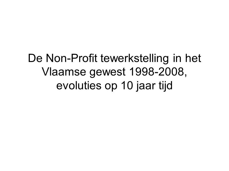 De Non-Profit tewerkstelling in het Vlaamse gewest 1998-2008, evoluties op 10 jaar tijd