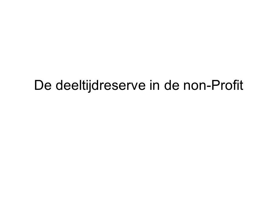 De deeltijdreserve in de non-Profit