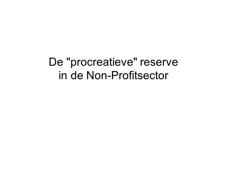 De procreatieve reserve in de Non-Profitsector