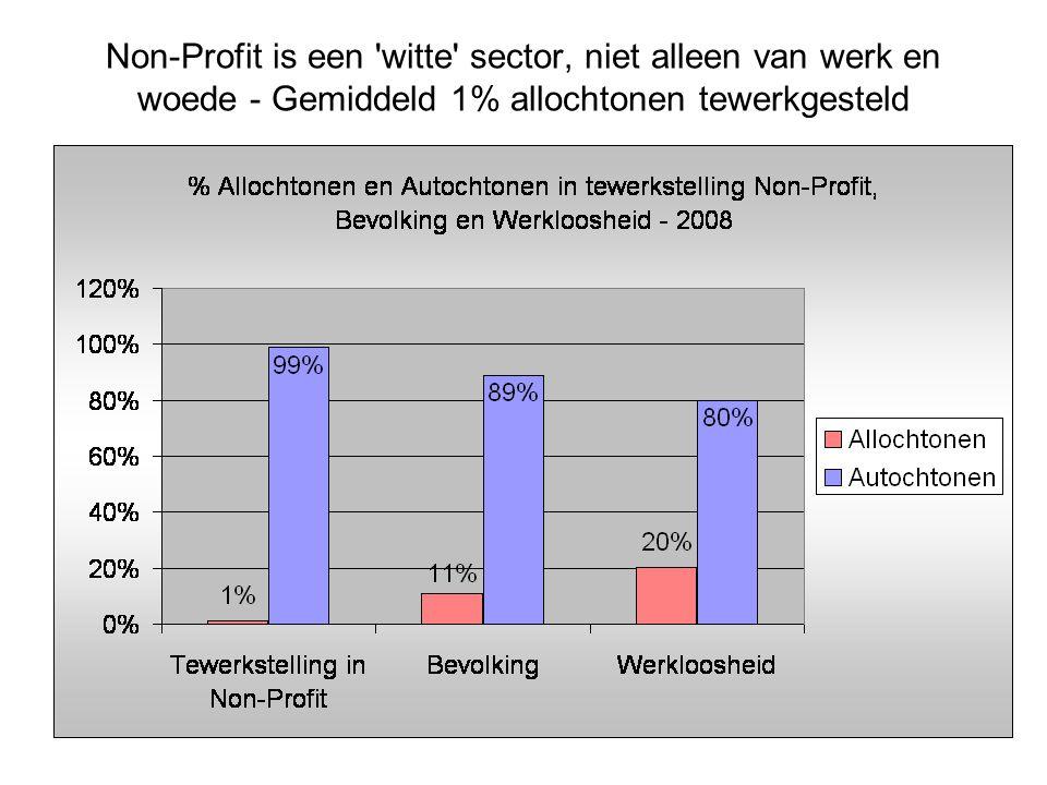 Non-Profit is een witte sector, niet alleen van werk en woede - Gemiddeld 1% allochtonen tewerkgesteld
