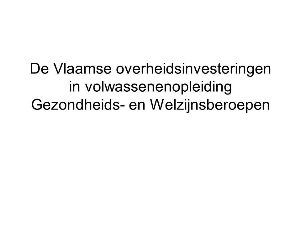 De Vlaamse overheidsinvesteringen in volwassenenopleiding Gezondheids- en Welzijnsberoepen