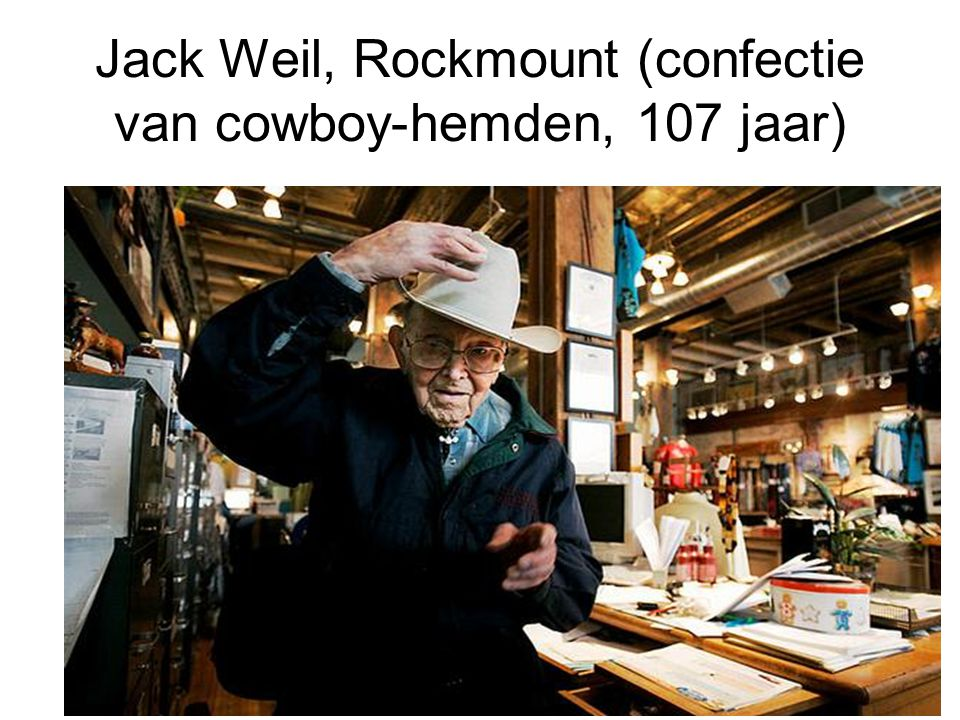 Jack Weil, Rockmount (confectie van cowboy-hemden, 107 jaar)