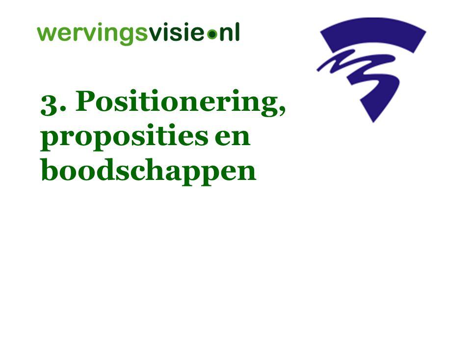 3. Positionering, proposities en boodschappen