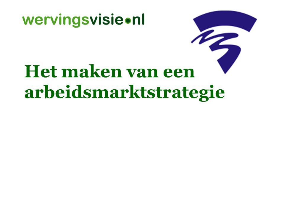Arbeidsmarktstrategie Alle analyses, plannen en activiteiten die tot doel hebben om te voorzien in de personeelsbehoefte.
