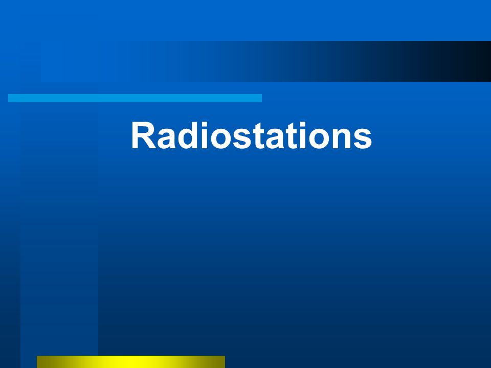 Radiostations