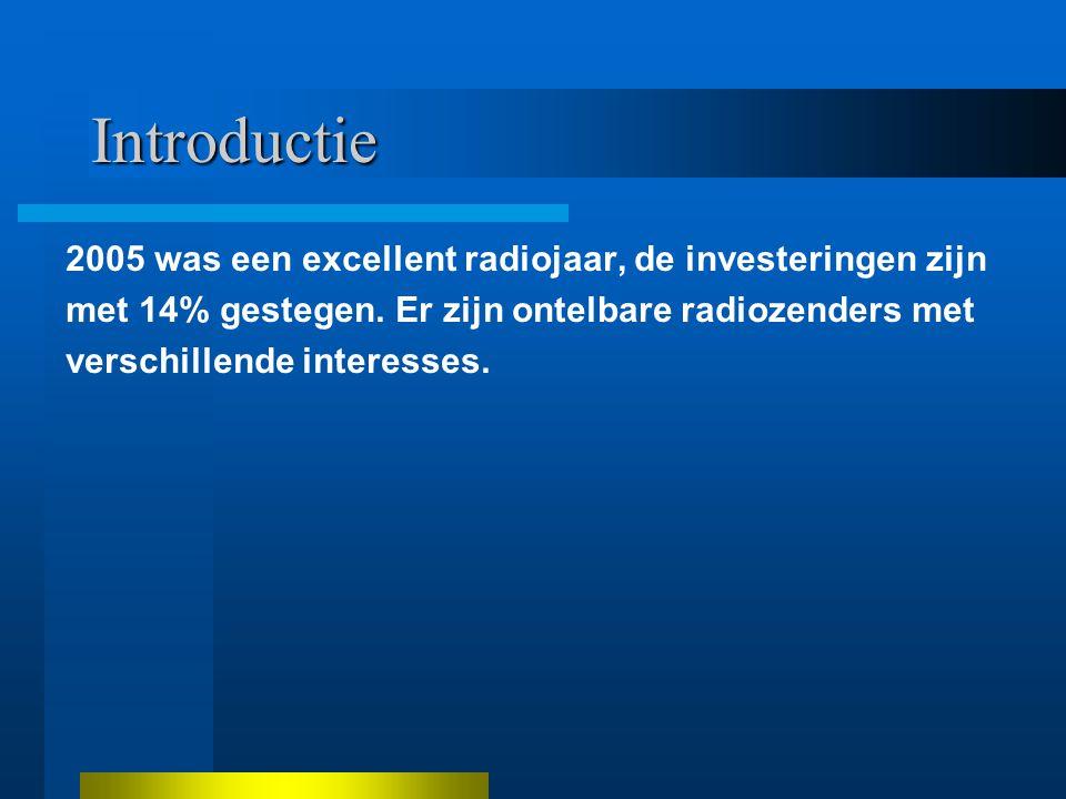 Introductie 2005 was een excellent radiojaar, de investeringen zijn met 14% gestegen.