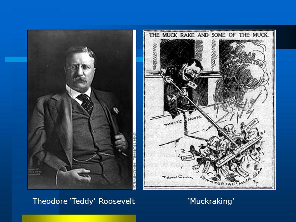Theodore 'Teddy' Roosevelt'Muckraking'