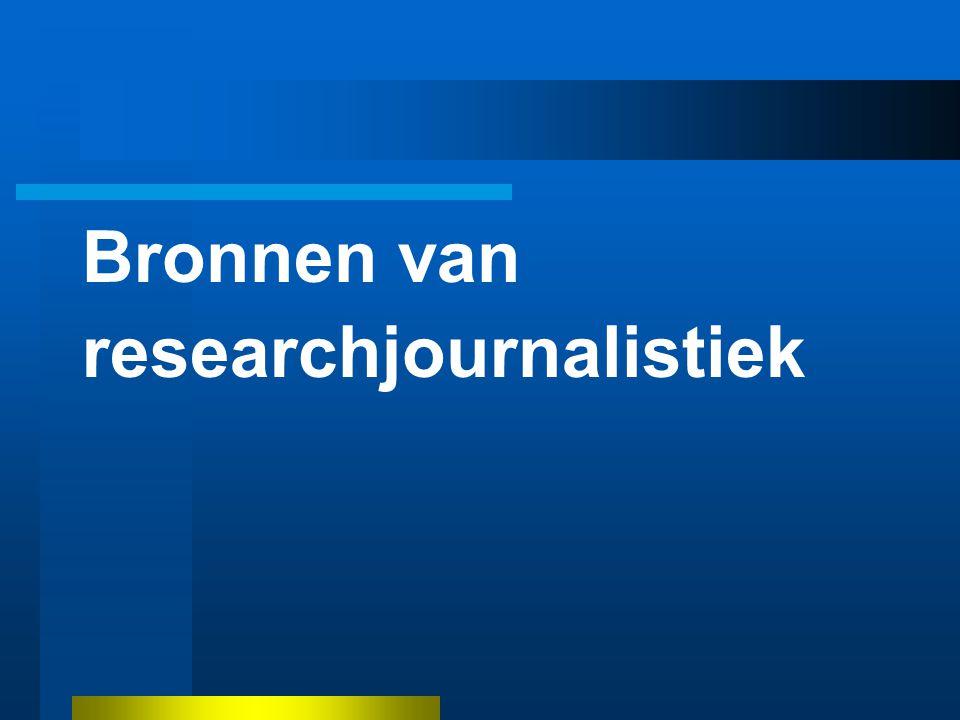 Bronnen van researchjournalistiek