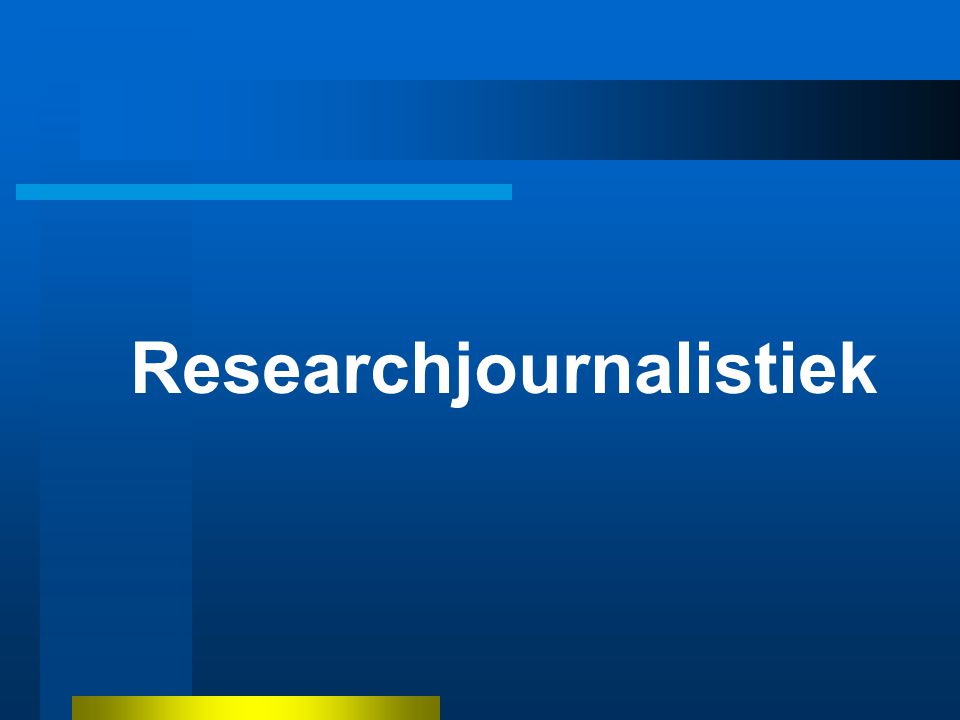 Researchjournalistiek