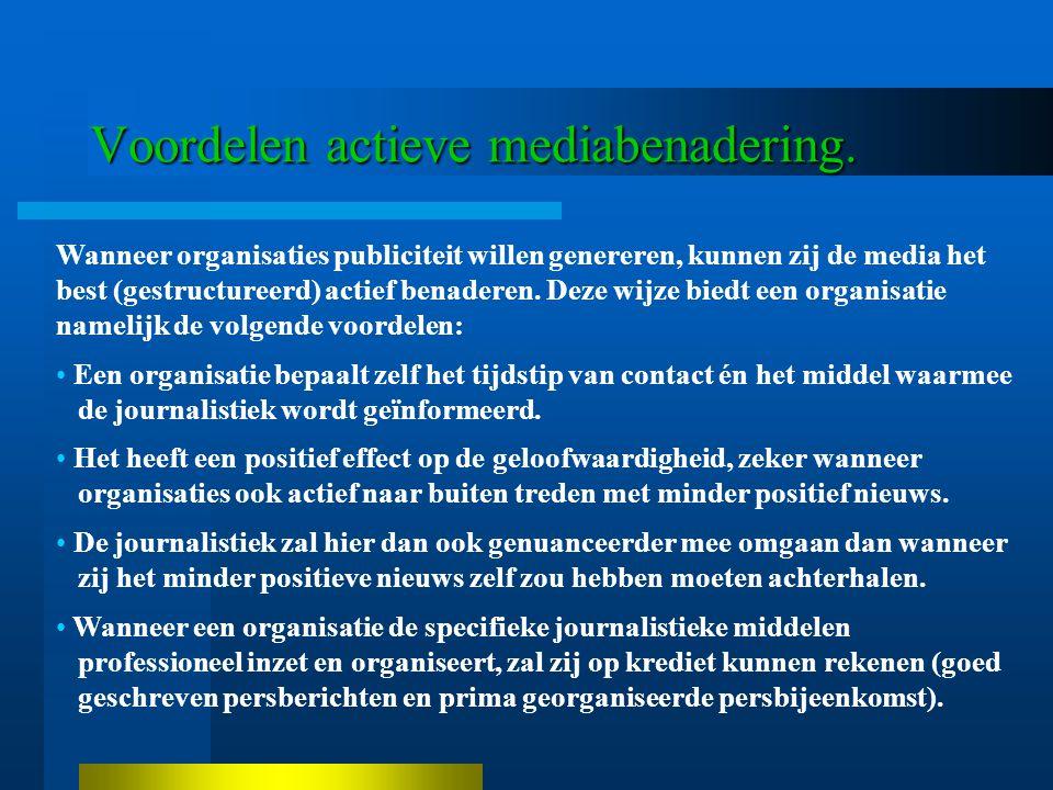 Voordelen actieve mediabenadering.