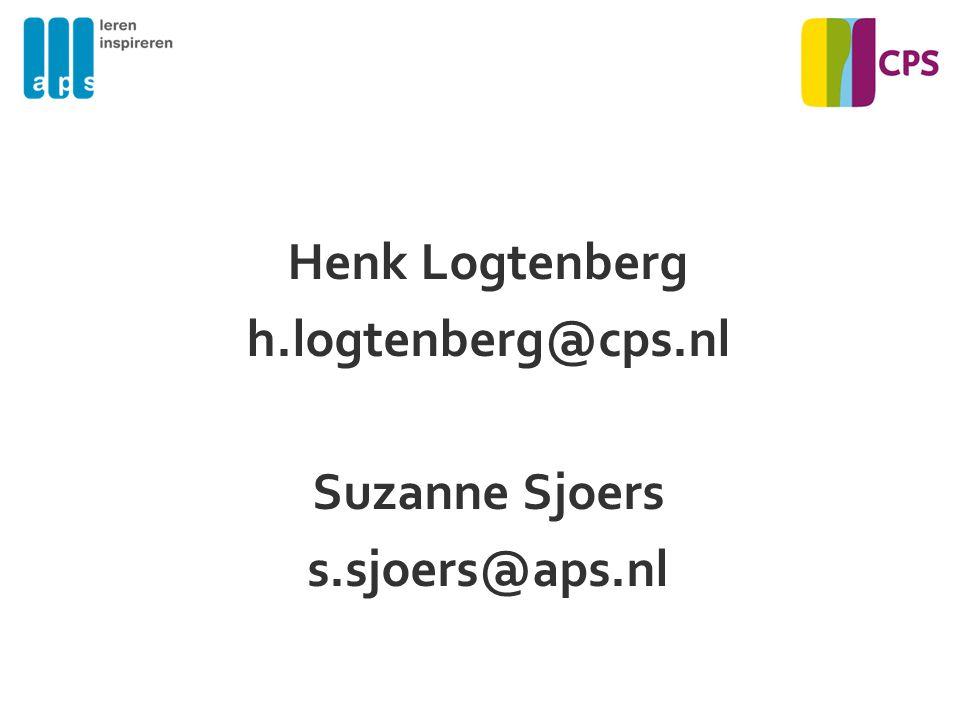 Henk Logtenberg h.logtenberg@cps.nl Suzanne Sjoers s.sjoers@aps.nl