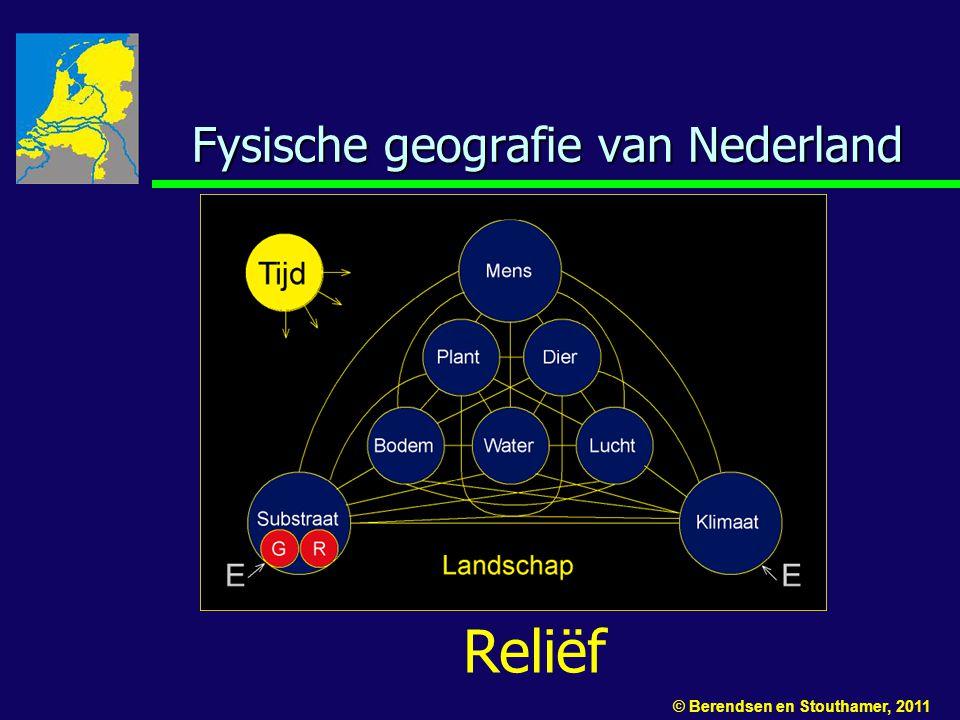 Fysische geografie van Nederland Reliëf © Berendsen en Stouthamer, 2011