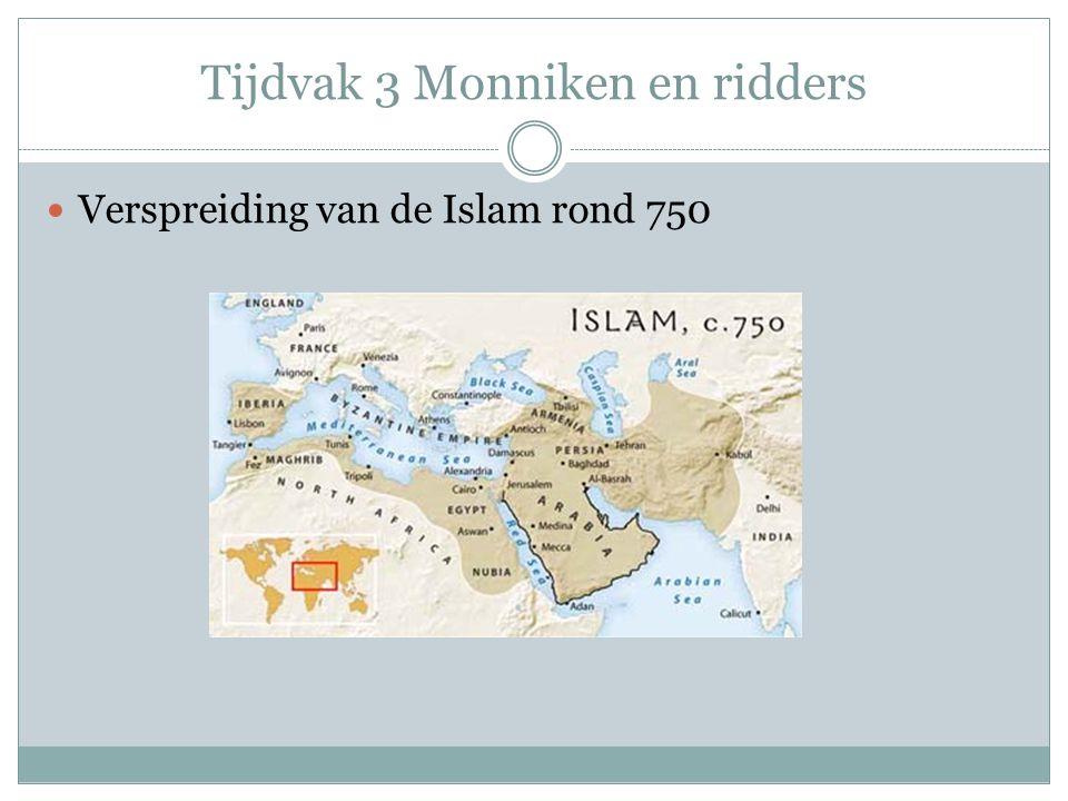 Verspreiding van de Islam rond 750