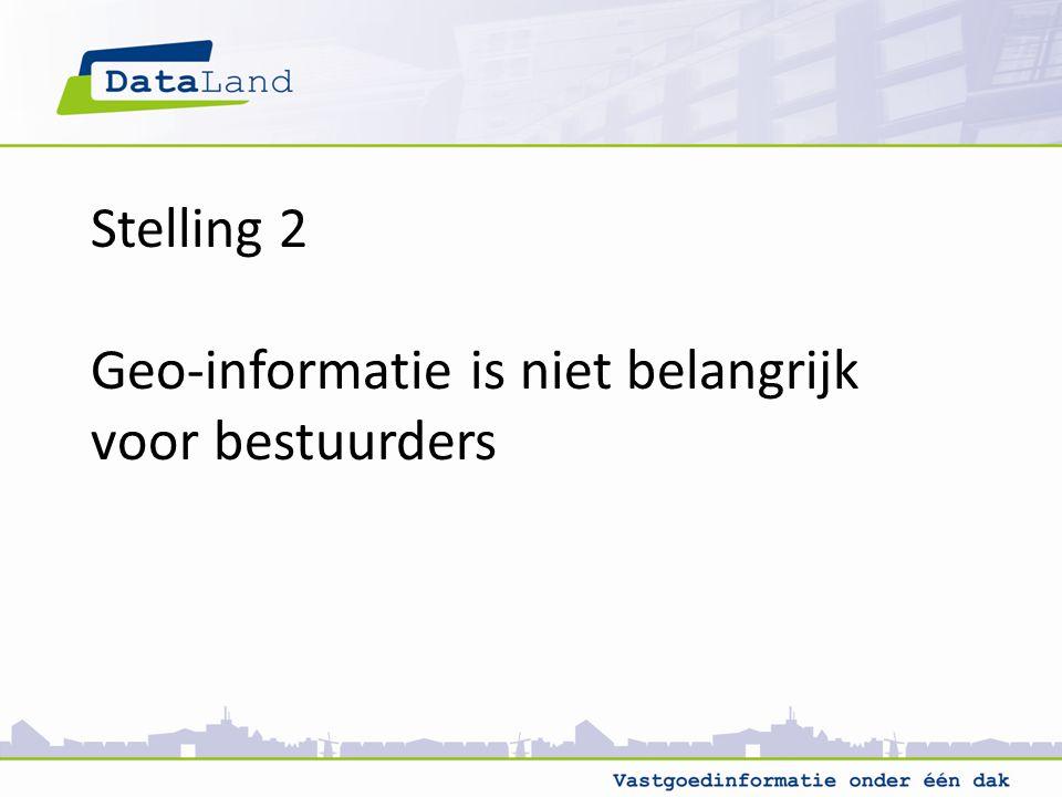 Stelling 2 Geo-informatie is niet belangrijk voor bestuurders