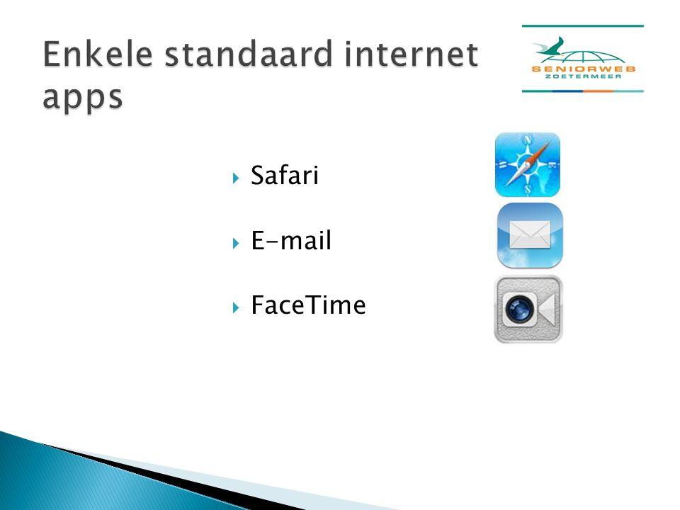  Safari  E-mail  FaceTime