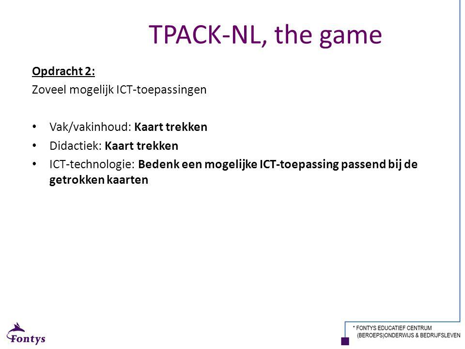 Opdracht 2: Zoveel mogelijk ICT-toepassingen Vak/vakinhoud: Kaart trekken Didactiek: Kaart trekken ICT-technologie: Bedenk een mogelijke ICT-toepassin