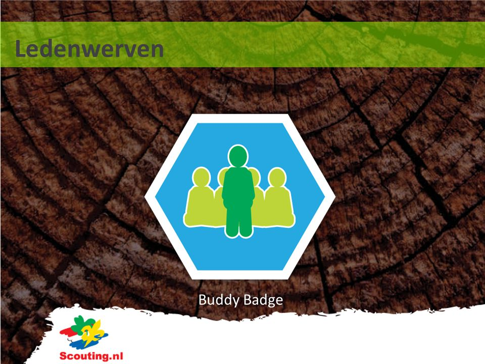 Ledenwerven Buddy Badge