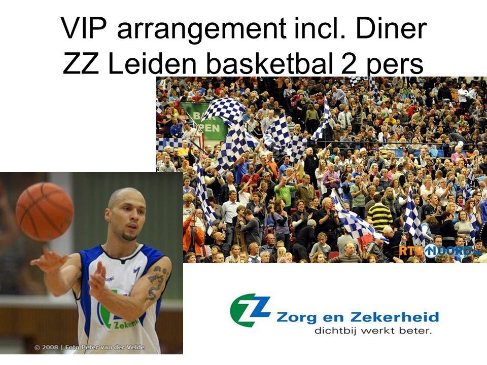 VIP arrangement incl. Diner ZZ Leiden basketbal 2 pers