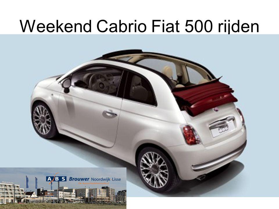 Weekend Cabrio Fiat 500 rijden