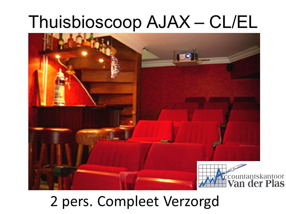 Thuisbioscoop AJAX – CL/EL 2 pers. Compleet Verzorgd