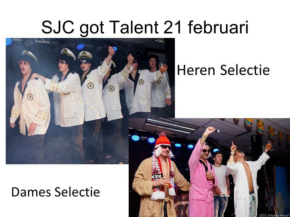 SJC got Talent 21 februari Heren Selectie Dames Selectie