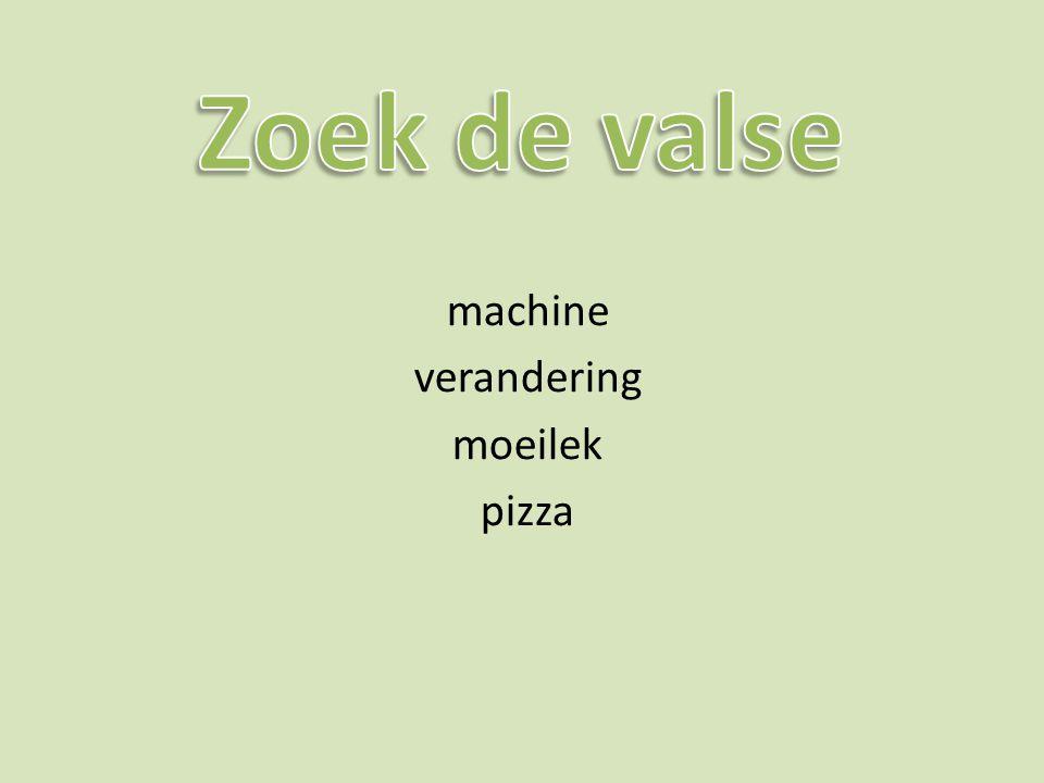 machine verandering moeilek pizza
