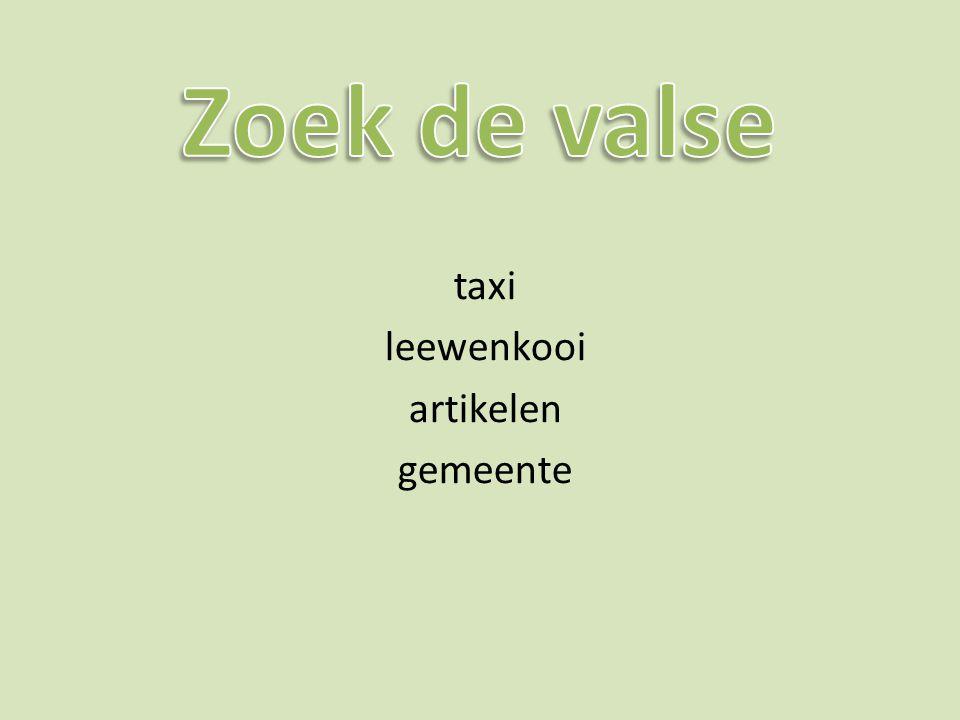 taxi leewenkooi artikelen gemeente