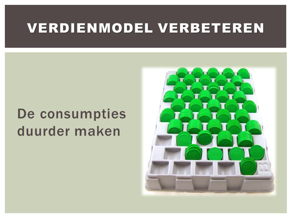 De consumpties duurder maken VERDIENMODEL VERBETEREN