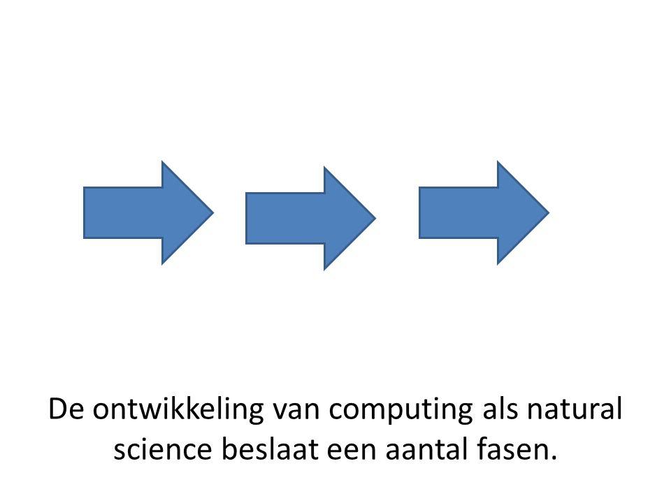 De ontwikkeling van computing als natural science beslaat een aantal fasen.