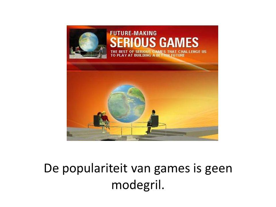 De populariteit van games is geen modegril.