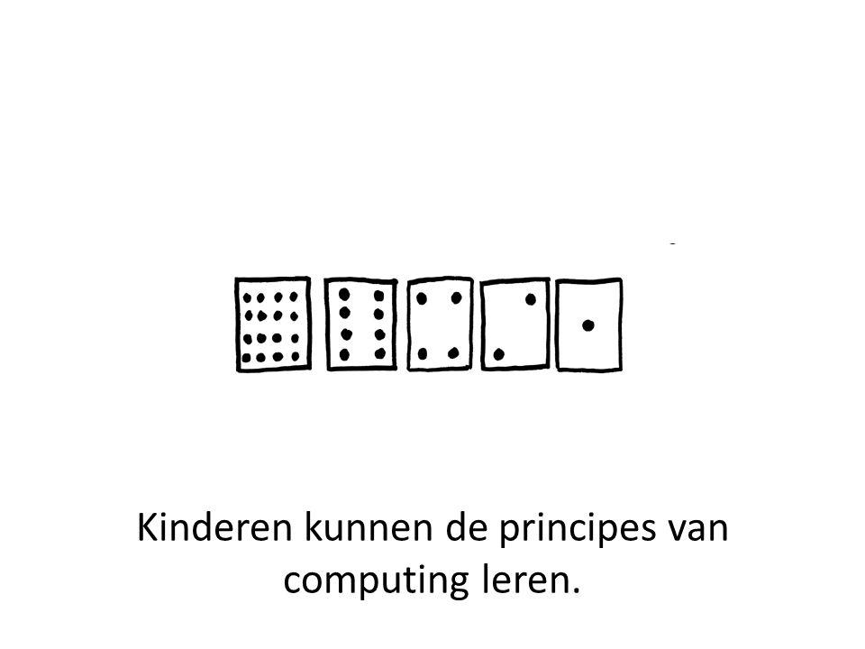 Kinderen kunnen de principes van computing leren.