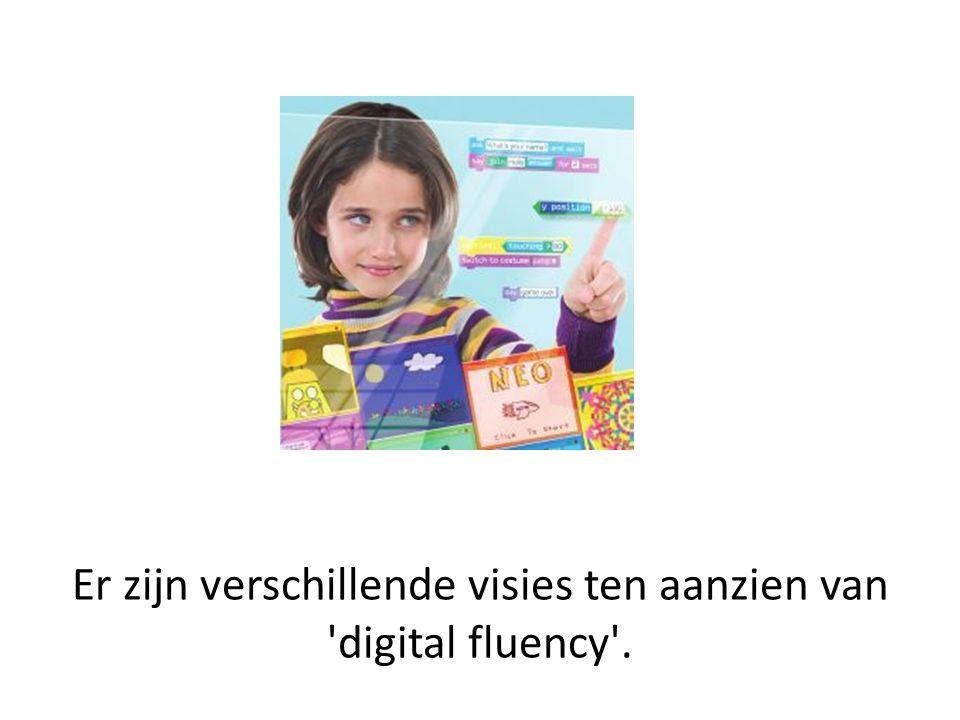 Er zijn verschillende visies ten aanzien van 'digital fluency'.