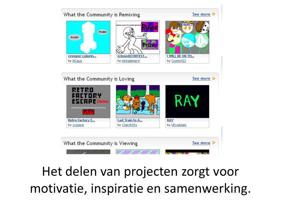 Het delen van projecten zorgt voor motivatie, inspiratie en samenwerking.