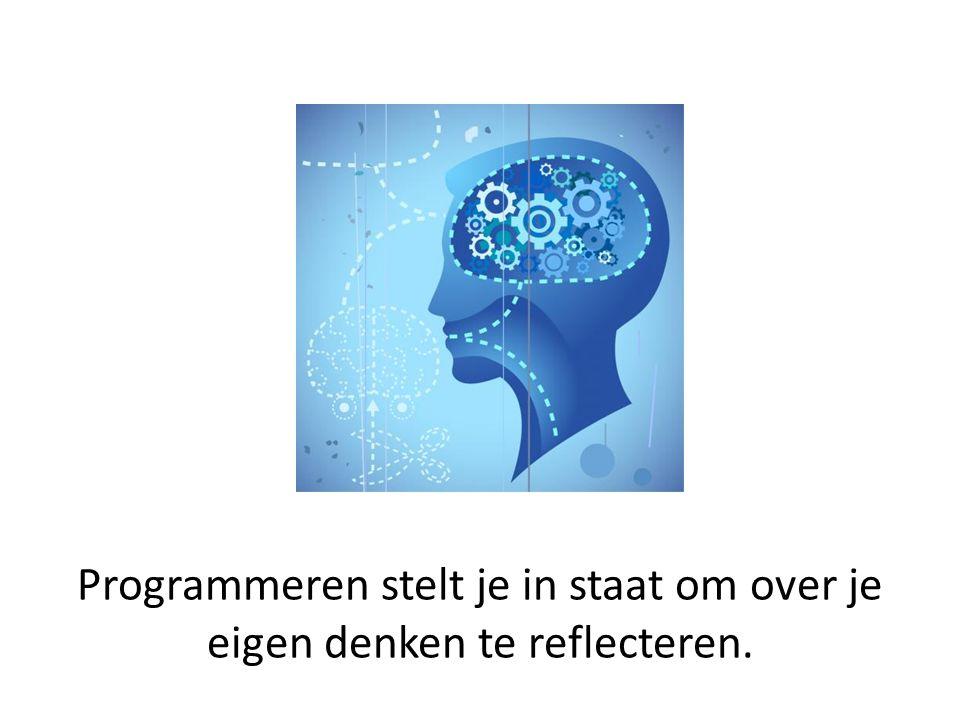 Programmeren stelt je in staat om over je eigen denken te reflecteren.