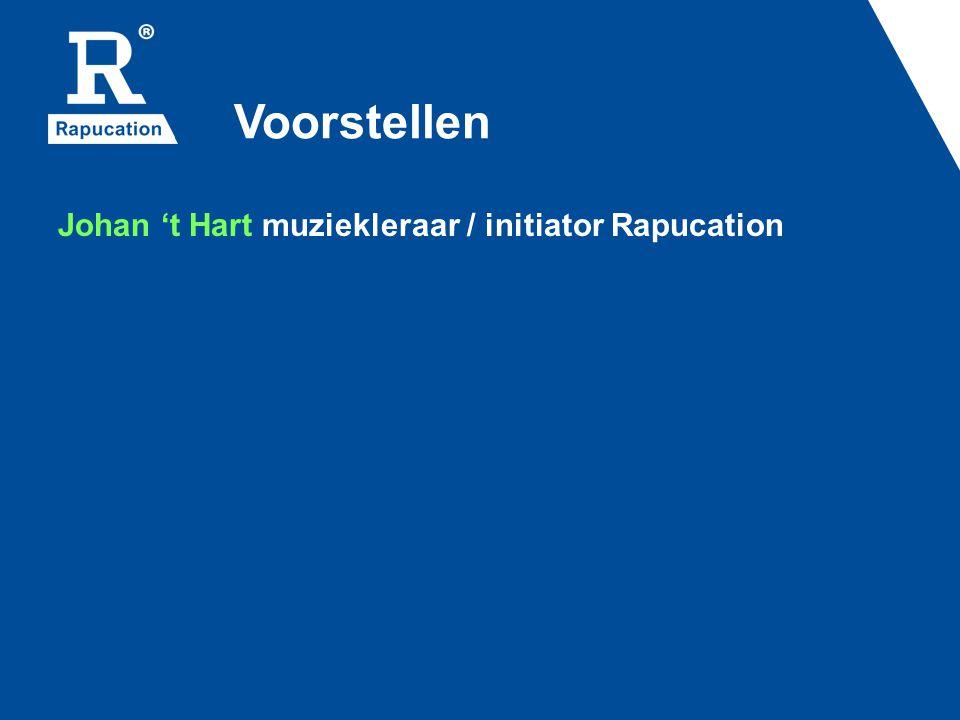 Voorstellen Johan 't Hart muziekleraar / initiator Rapucation