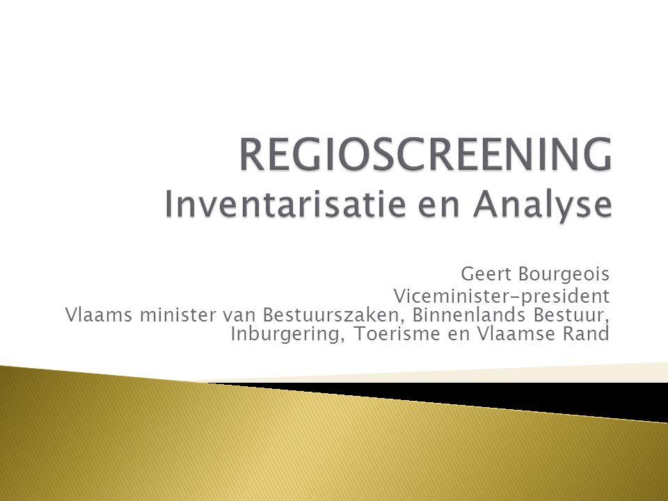 Geert Bourgeois Viceminister-president Vlaams minister van Bestuurszaken, Binnenlands Bestuur, Inburgering, Toerisme en Vlaamse Rand