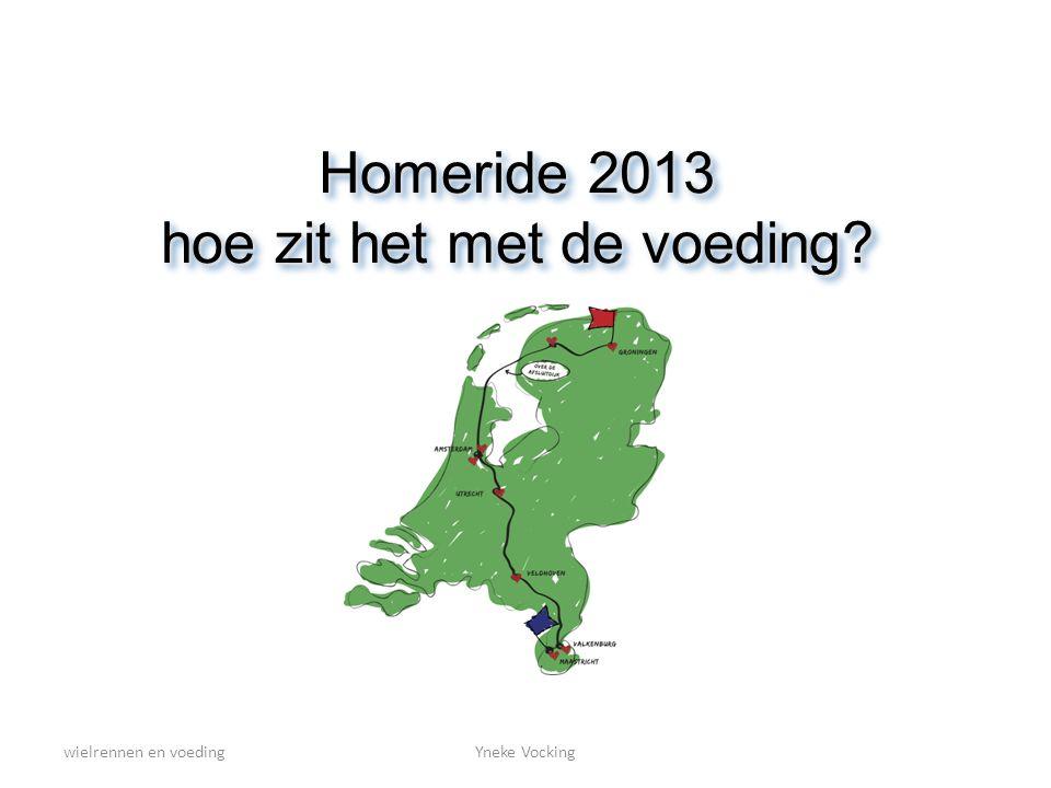 wielrennen en voedingYneke Vocking Homeride 2013 hoe zit het met de voeding?