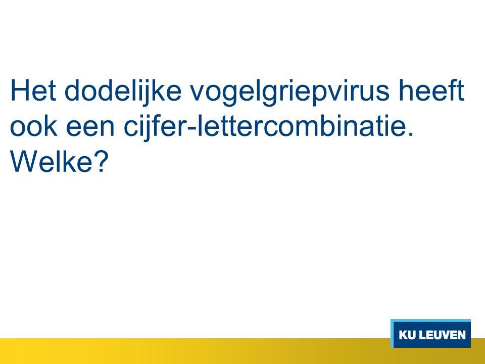 Het dodelijke vogelgriepvirus heeft ook een cijfer-lettercombinatie. Welke?