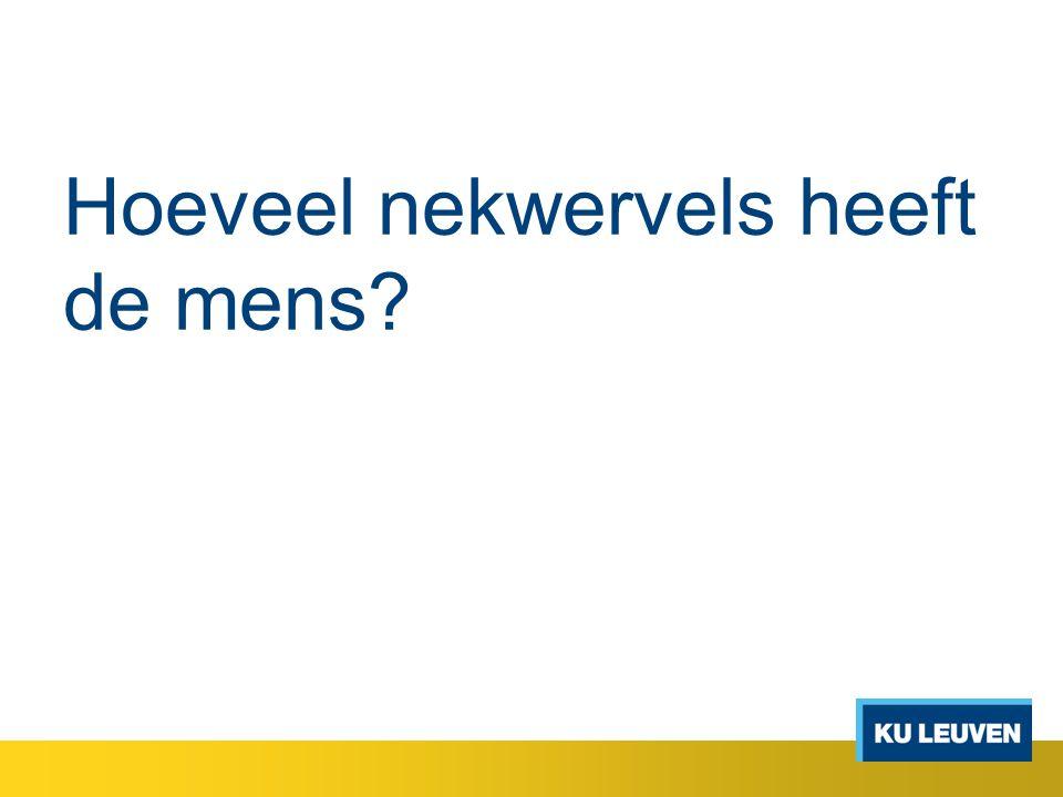 Hoeveel nekwervels heeft de mens?