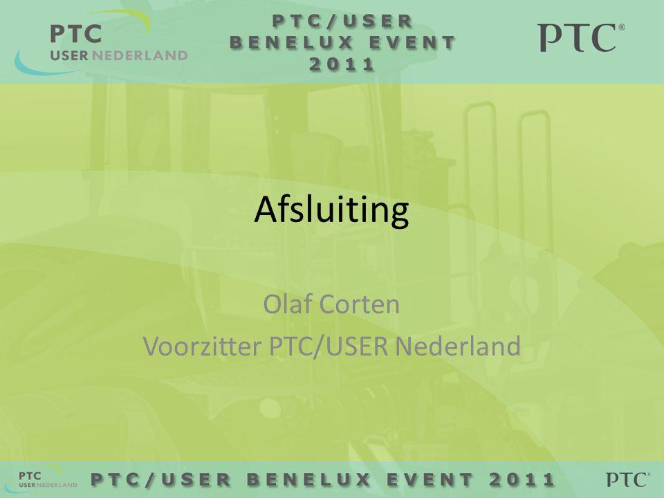 Afsluiting Olaf Corten Voorzitter PTC/USER Nederland