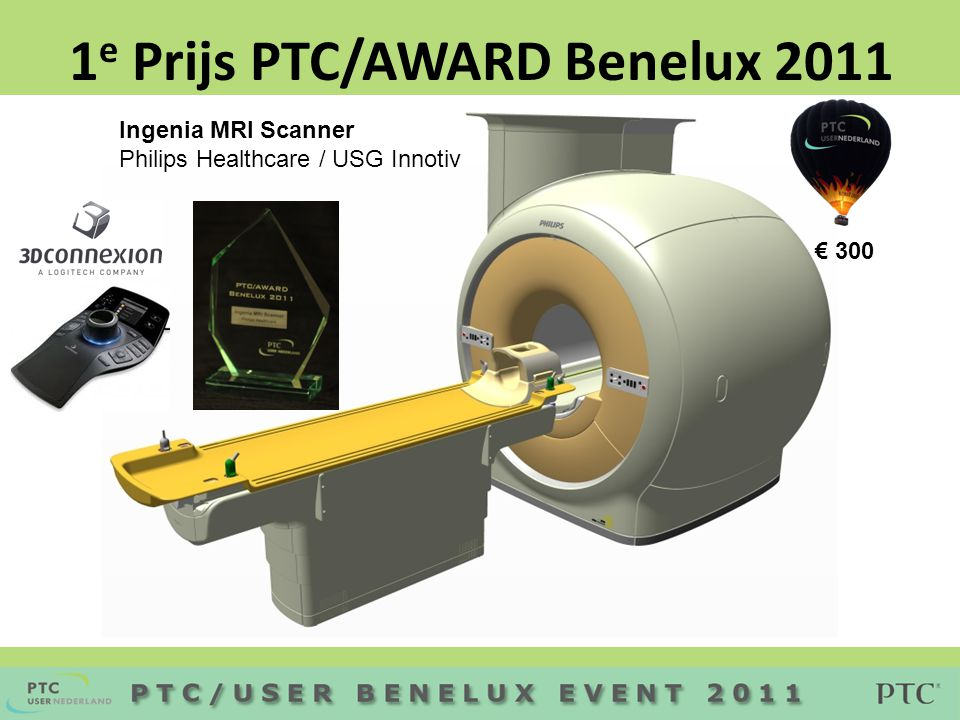 Ingenia MRI Scanner Philips Healthcare / USG Innotiv 1 e Prijs PTC/AWARD Benelux 2011 € 300