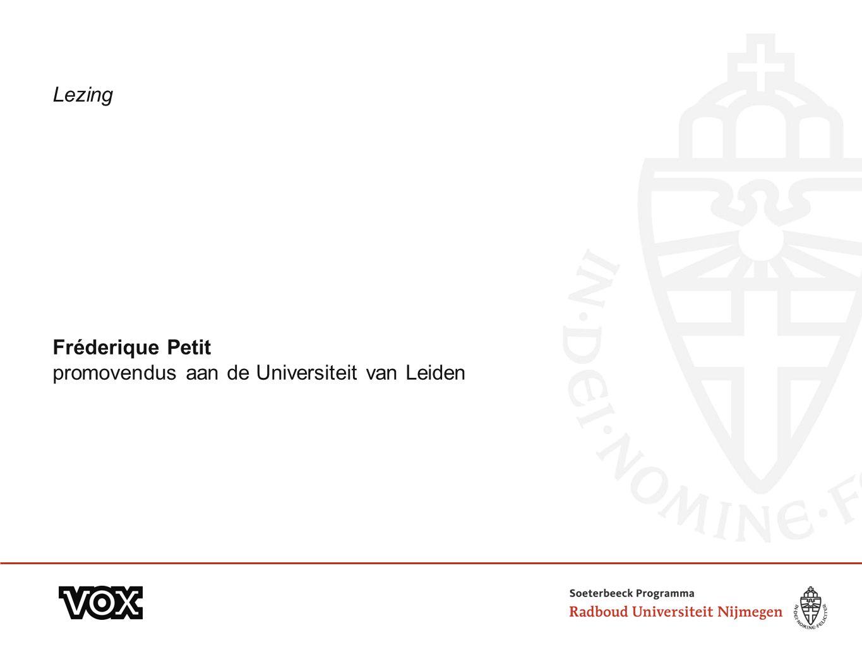 Lezing Fréderique Petit promovendus aan de Universiteit van Leiden