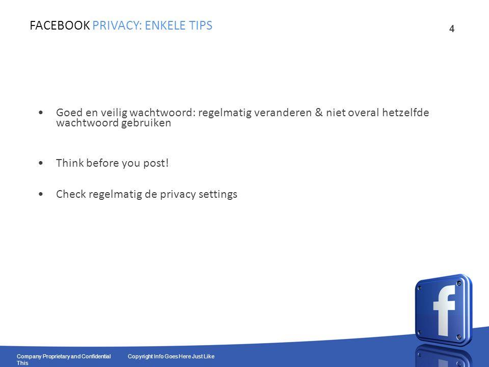 15 Company Proprietary and Confidential Copyright Info Goes Here Just Like This Wie heeft een pagina van de chiro.