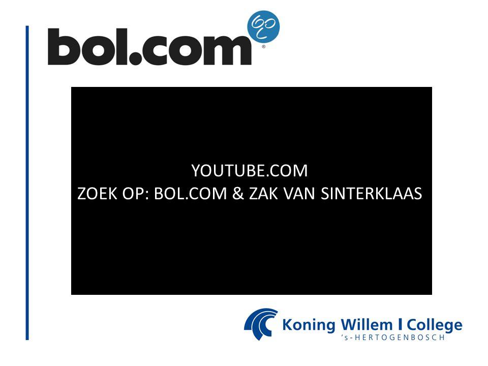 YOUTUBE.COM ZOEK OP: BOL.COM & ZAK VAN SINTERKLAAS
