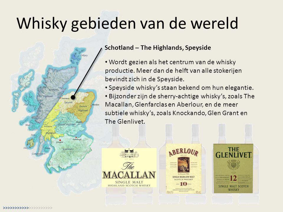 Whisky gebieden van de wereld Schotland – The Highlands, Speyside Wordt gezien als het centrum van de whisky productie. Meer dan de helft van alle sto