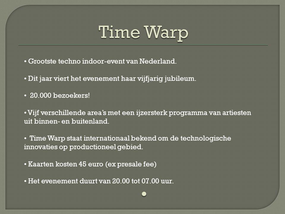 Grootste techno indoor-event van Nederland.Dit jaar viert het evenement haar vijfjarig jubileum.