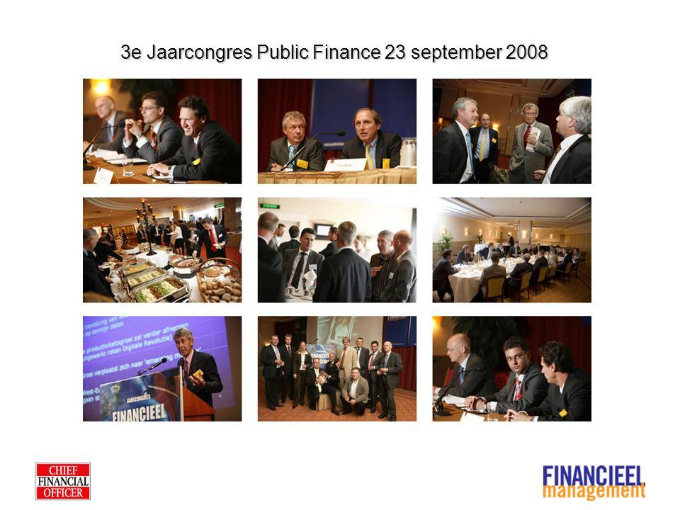 Silver Silver sponsorship Jaarcongres Public Finance inclusief: - Twee kaarten voor eigen medewerkers, ad 1.950 euro per kaart - Acht kaarten voor relaties, ad 650 euro per kaart - Zichtbaarheid op de dag zelf middels logodragers - Cases voordragen voor Public Finance Award - 100 exemplaren van de TFM Special Investering: 5.000 euro
