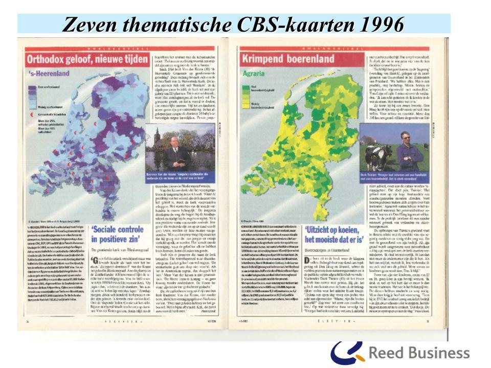 Zeven thematische CBS-kaarten 1996